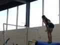 workout on gym bars