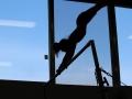 fitness on gymnastic bars
