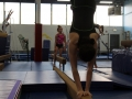 young kids on balance beam