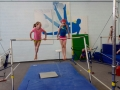 young girls in gymnastics