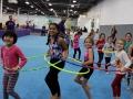 birthday hula hoop train