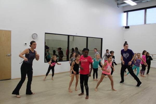 Ana in dance class