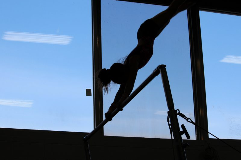 Girl Practicing Gymnsatics